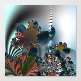 Follow me! -- Creatures in a fractal landscape Canvas Print
