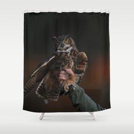 owl bird photo Shower Curtain
