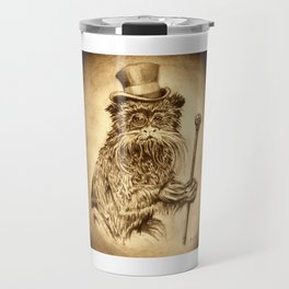 Classy Monkey pencil portrait Travel Mug