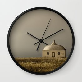 Cabo Espichel at sunset Wall Clock