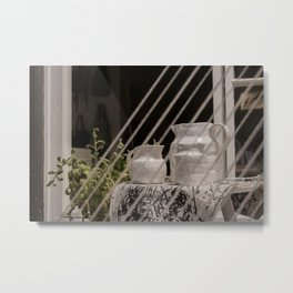 Plant & Porcelain Carafe Metal Print