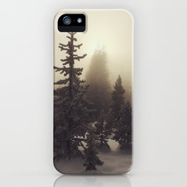 Sunlight, Frost and Steam iPhone Case