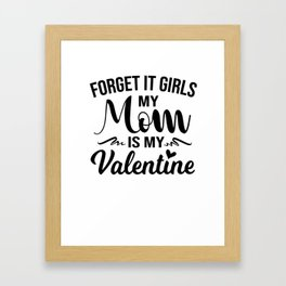 Valentine's Day Boy Kids Mama Love Sweet Gift Framed Art Print
