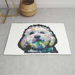 maltese poodle Maltipoo Dog Portrait Pop Art painting by Lea Rug