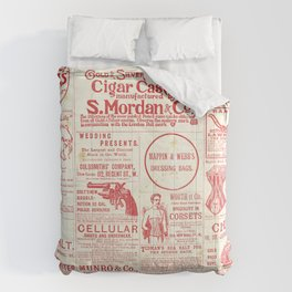 The old newspaper, vintage design illustration Comforters