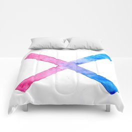 SUICIDE SQUAD HARLEY QUINN INSPIRED RED AND BLUE CROSS. Comforters