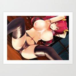 Rakudai Kishi no Cavalry Stella Vermillion Art Print