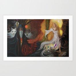Odin & Frigg Art Print