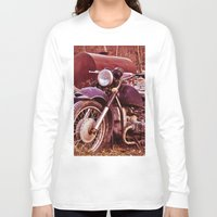 moto Long Sleeve T-shirts featuring Vintage Moto by Eduard Leasa Photography