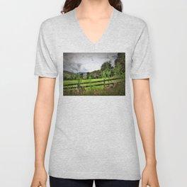 Ranch Landscape Unisex V-Neck