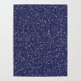 Blue Glitter I Poster