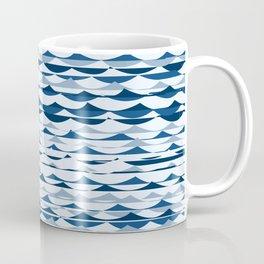 Glitch Waves - Classic Blue Coffee Mug