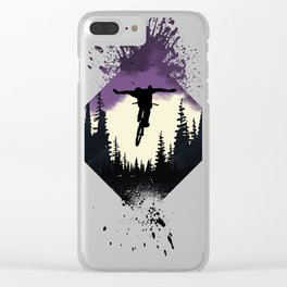 Forest Rider Clear iPhone Case