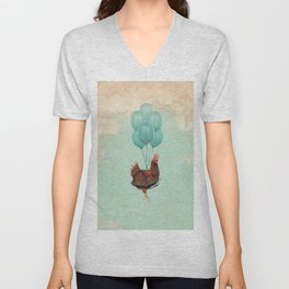 Chickens Can't Fly Unisex V-Neck