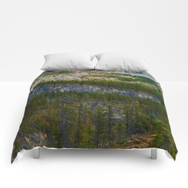 Highest Mountain in the Canadian Rockies; Mount Robson Comforters