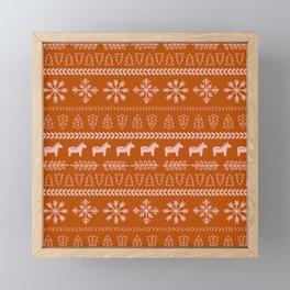 Scandinavian Christmas in Orange Framed Mini Art Print