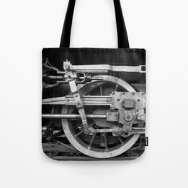 locomotive wheels Tote Bag