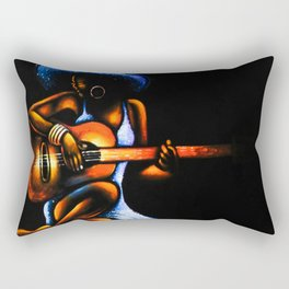 An African Woman Guitarist  Rectangular Pillow
