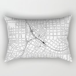 Vintage Atlanta Map Rectangular Pillow