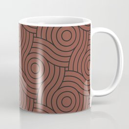 Circle Swirl Pattern Dark Rich Red, Inspired By Dunn Edwards Spice of Life DET439 Coffee Mug