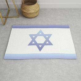 flag of Israel - with color gradient Rug