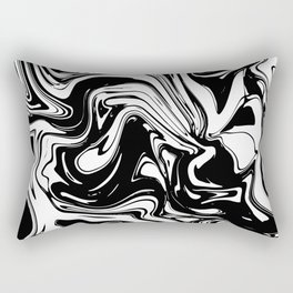 Liquid Marble B&W 028 Rectangular Pillow
