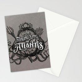 The Fucking King of Atlantis - b&w Stationery Cards