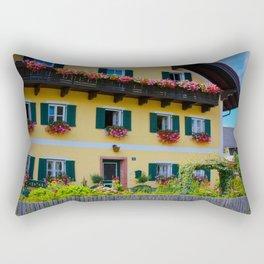 Austrian Flower Boxes Rectangular Pillow