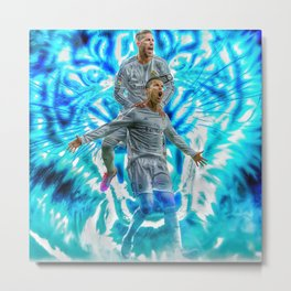 Ronaldo and Ramos Metal Print
