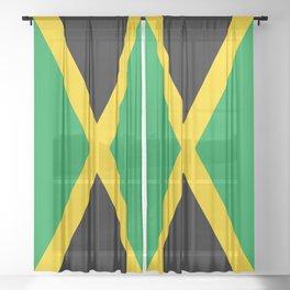 Jamaican Flag Sheer Curtain
