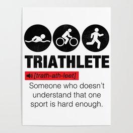 Funny Definition Triathlete Poster