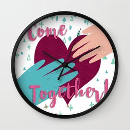 Come Together Now Wall Clock
