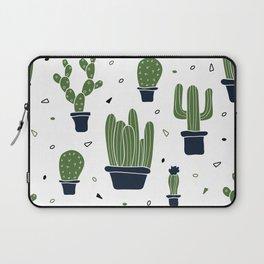 Cactus Plants Pattern- Green Laptop Sleeve