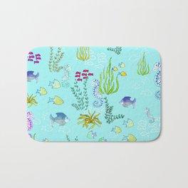 Seahorse Botanical Bath Mat