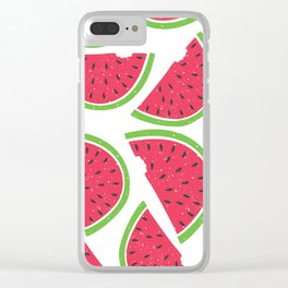 Watermelon Summer Clear iPhone Case