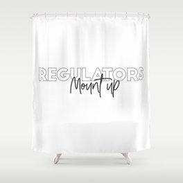 Regulators mount Shower Curtain