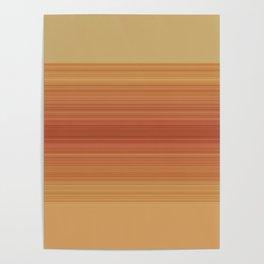 Orange Sunset Stripe Design Poster