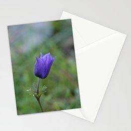 Lone Blue-Purple Anemone Stationery Cards