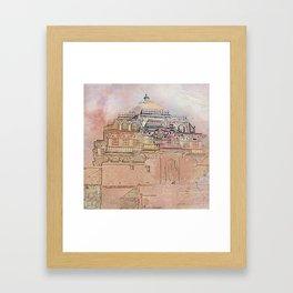 Rajasthan India Temple Sunrise Framed Art Print