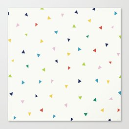 Cute Confetti Pattern Canvas Print