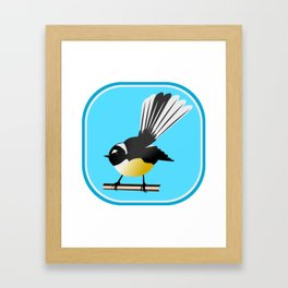 Fantail NZ BIRD Framed Art Print