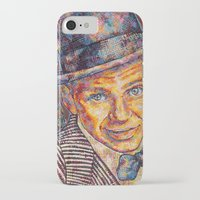 frank sinatra iPhone & iPod Cases featuring Frank Sinatra  by Sara Elyse Lehtman