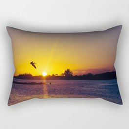 Tropical Pelican Sunset Rectangular Pillow