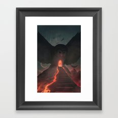 We Name the Stars that Fall Upon Us Framed Art Print
