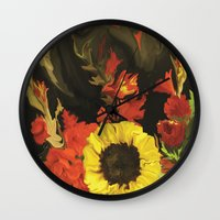 nick cave Wall Clocks featuring Cave  by DesignsByMarly