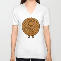 pi V-neck T-shirts featuring Apple Pi by Perdita