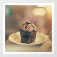 cupcake Art Prints featuring Cupcake  by Caroline Mint