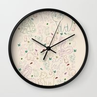 zodiac Wall Clocks featuring zodiac by Kristina Nuetzmann