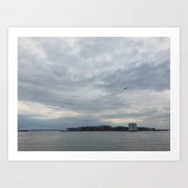 Clouds Over Governor's Island Art Print