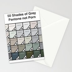 50 Shades Of Grey - Pantone not Porn Stationery Cards